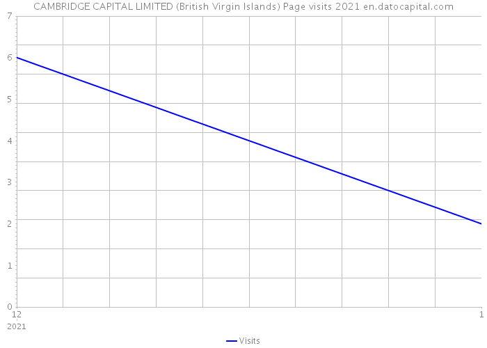 CAMBRIDGE CAPITAL LIMITED (British Virgin Islands) Page visits 2021